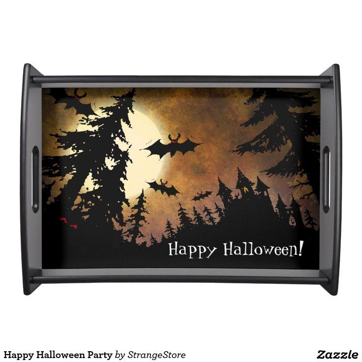 Happy Halloween Party Food Tray