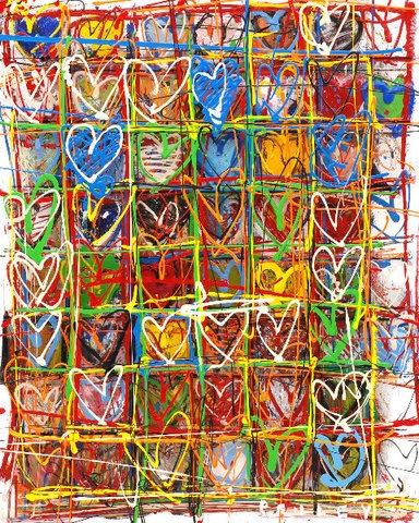 Steve Penley - Hearts.... Would work with oil pastel and watercolor process on other pin.