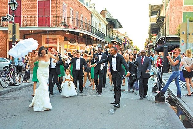 In New Orleans, we celebrate nearly every occasion with a second-line parade, some publicly — business openings, Carnival balls, the 200th anniversary of the Treme...