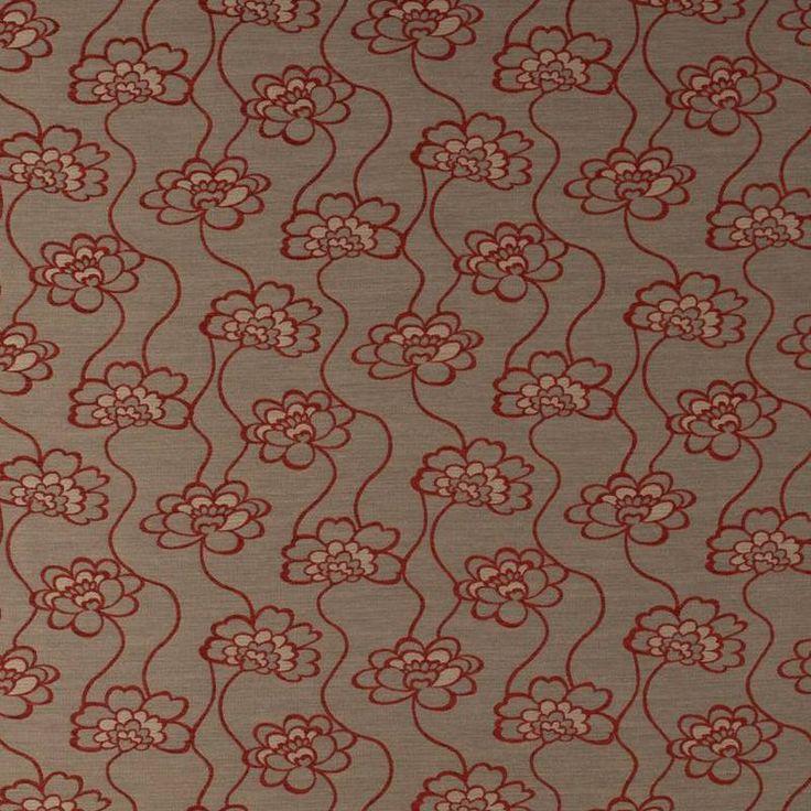 Warwick Fabrics : DAHLIA, Colour ROSE