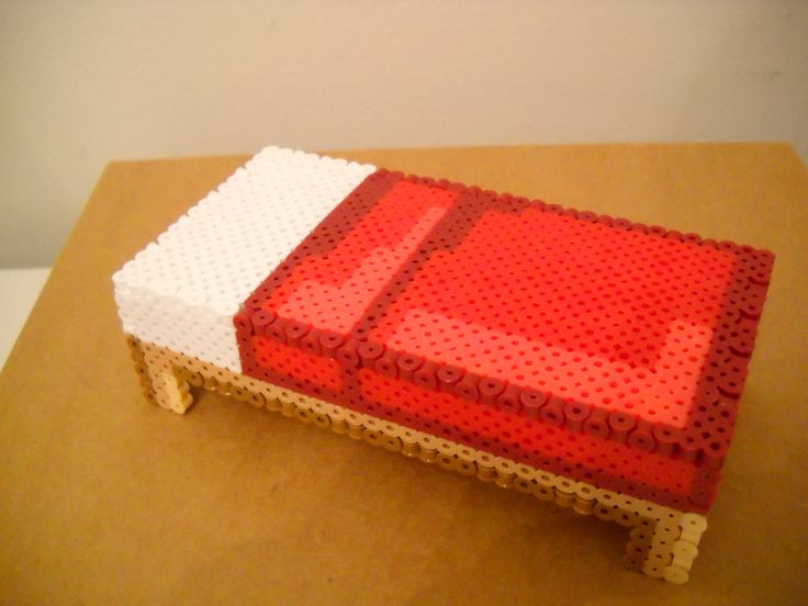 perler 3d minecraft bed