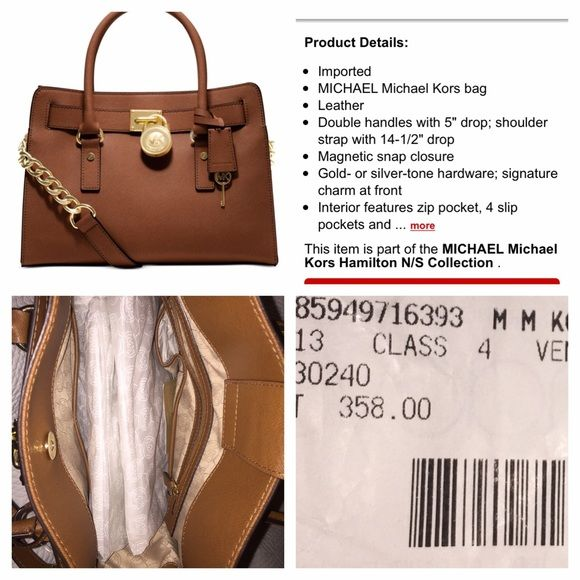 Michael Kors Lg Hamilton camel tan leather NEW New large bag from Macy\u0027s. Michael  Kors