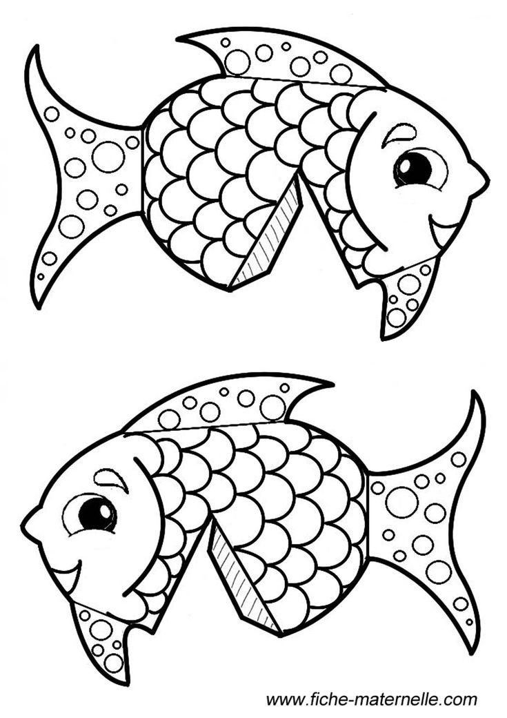 Faire un poisson en volume par pliage et collage