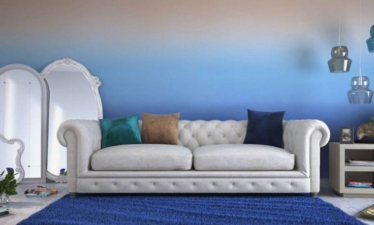 Ombre Blue Wall Paint Home Dreams Pinterest Wall