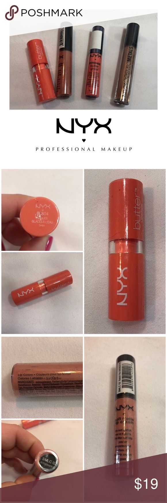 NYX 4-Piece Neutral Lip Bundle NYX 4-Piece Neutral Lip Bundle  High-quality lip …