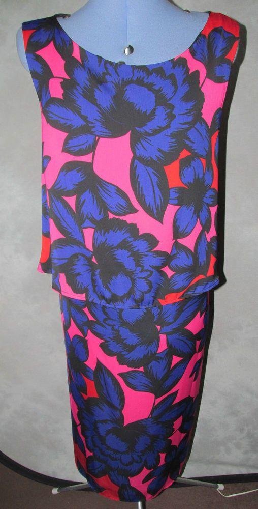 TU,ladies,new+tag,plus,size20,floral,scoop neck,sleeveless,calf lth,Formal,Dress