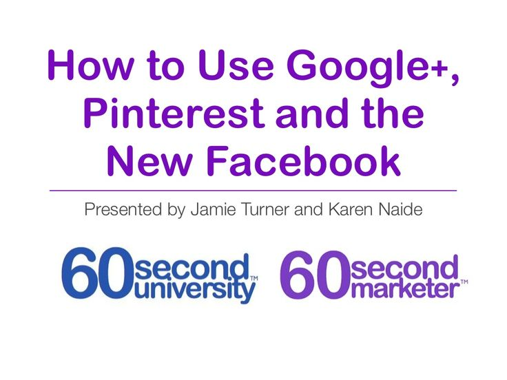 Pinterest Google And Facebook Tips And Techniques By Jamie Turner
