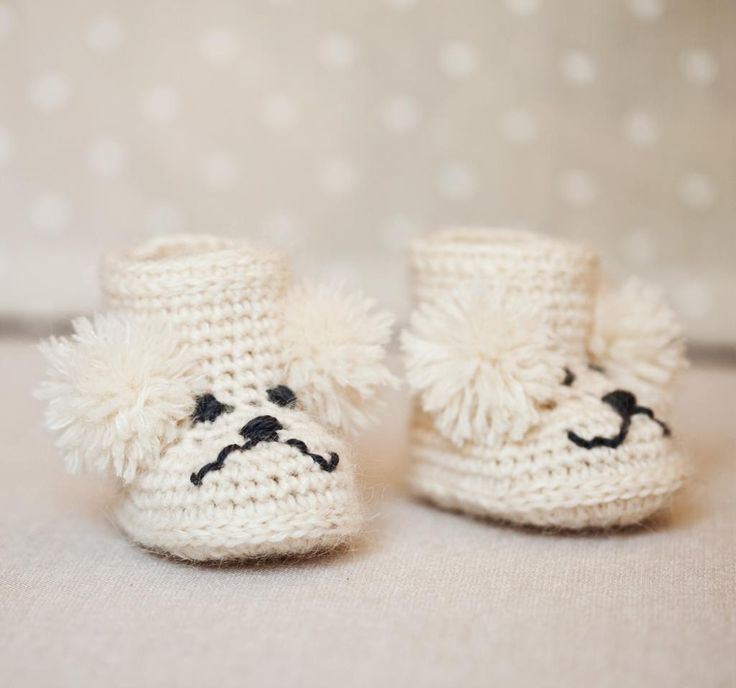 poodle baby boots pattern on craftsycom baby booties crochet pattern