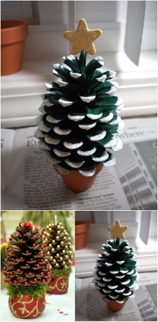 DIY Pine Cone Christmas Tree | DIY Fun Tips