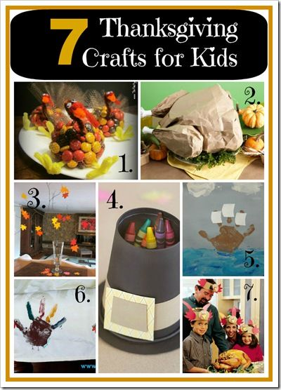 7 Easy Thanksgiving Crafts for Kids || 4tunate.net