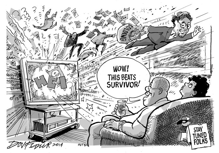 The latest Business Report weekly cartoon deals with the resignation of Marcel Golding, former chairman of e.tv's parent company Hosken Consolidated Investments (HCI).  To read this and other stories click here: http://www.iol.co.za/business