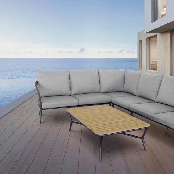 Best Loungeset Mali 5 Tlg 2x 2 Sitzer Eck Mittelteil Tisch