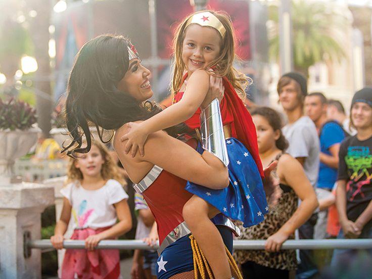 Wonder Woman at Warners Bros. Movie World, Gold Coast, Australia.