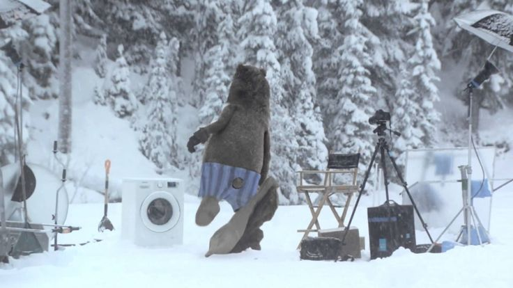 Bear Does Laundry : Samsung Washing Machine #Spot
