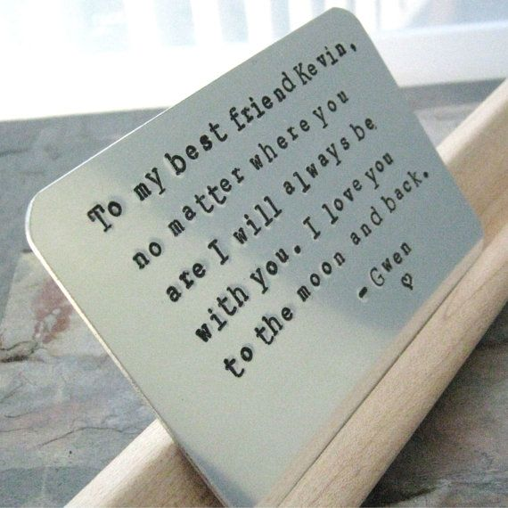 Christmas Gift Ideas Guy Friends Part - 49: Personalized Wallet Insert Card Best Friends By Riskybeads On Etsy, $39.95.  Guy Best Friend GiftsBest FriendsBest Christmas ...
