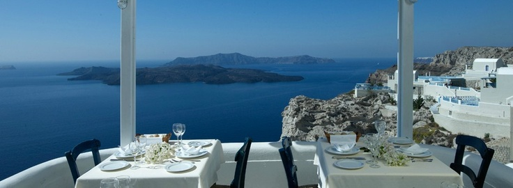 The Caldera restaurant is open for a la carte meals from 13:00 to 22:00. Enjoy!    http://www.volcano-view.com/santorini-caldera-restaurant.php