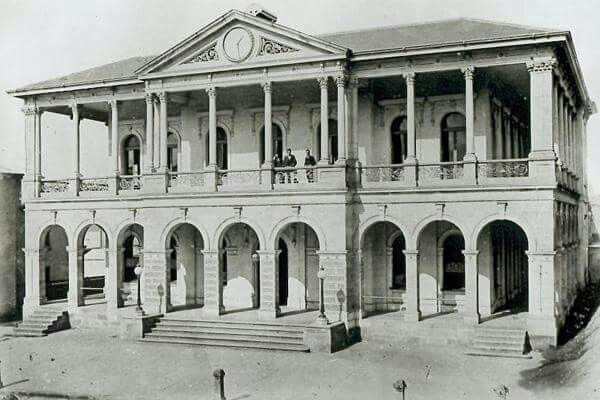 General Post Office on Queens St in Brisbane in 1875.