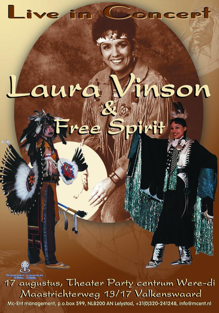 "Promotion poster ""Laura Vinson & Free Spirit"" live in concert"