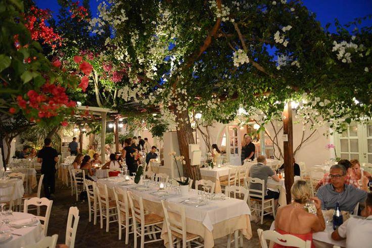 Avra Restaurant in Mykonos, Greece