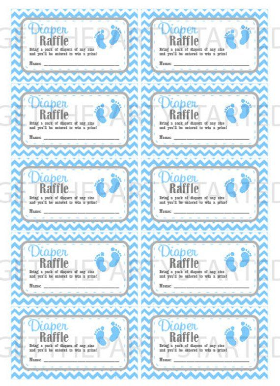 Diaper Raffle Tickets Printable Baby Shower Raffle Tickets Etsy Baby Shower Raffle Baby Shower Planning List Baby Shower Printables