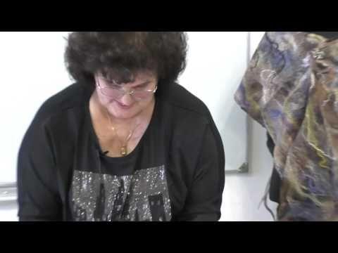Тонкие палантины с мраморным рисунком Елены Макаровой Рисунок из шелковых квадратов - YouTube