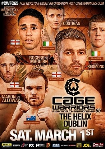 Cage Warriors 65 Ergebnisse - Results