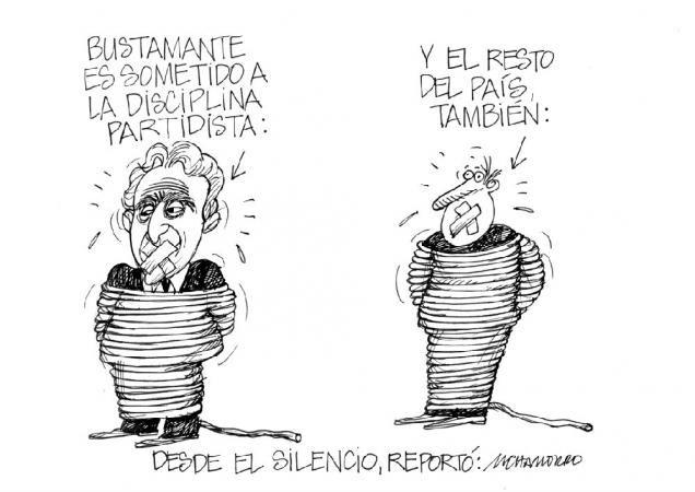 """Les dejamos con nuestra caricatura de hoy:  """"Desde el silencio"""""""