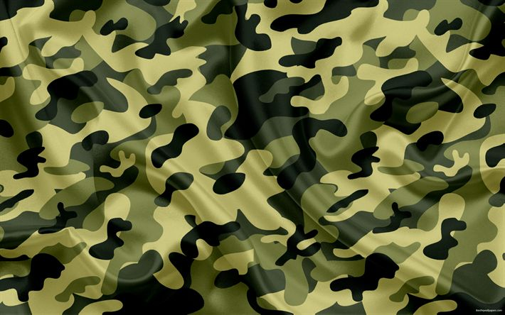 Download wallpapers summer camouflage, green camouflage, silk fabric, camouflage, texture