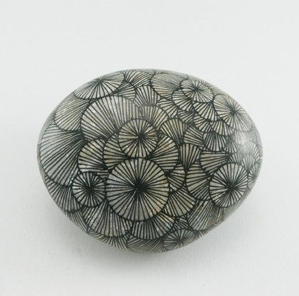 MUFFINS IN MY BACKPACK: Stone painting.