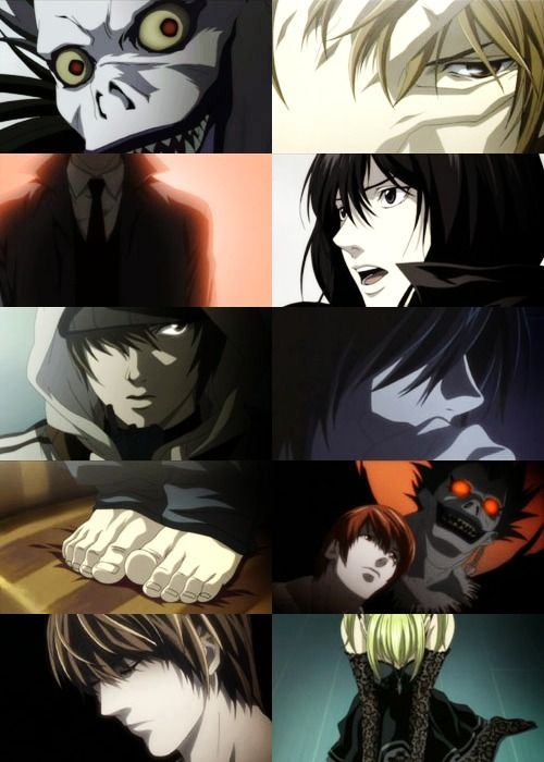 Death note. I love how everything is all serious, then in one of the frames you have L's foot. Oh those infamous feet of his.