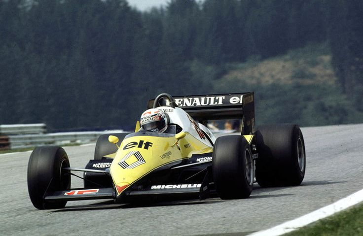 Renault Formula 1 Histrory. Austrian Grand Prix, Osterreichring The Renault RE40 V6 powers Alain Prost to victory in the 1983 Austrian GP, and to second position in the Drivers Championship, the closest Renault would come to winning the Championship.. World © Coates/LAT email: digital@latphoto.co.uk