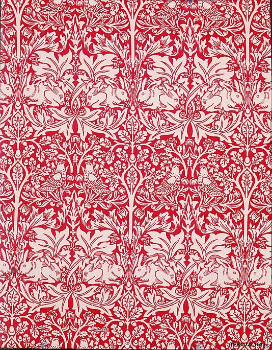 Brother Rabbit - Morris & Company, Designed by William Morris, 1882, printed on cotton.