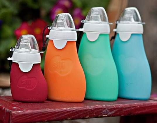 Sili Squeeze Reusable Food Pouch is Perfect for Purees On-the-Go