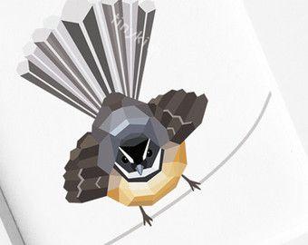 Pukeko Nieuw-Zeeland Inheemse vogels van tinykiwiPrints op Etsy
