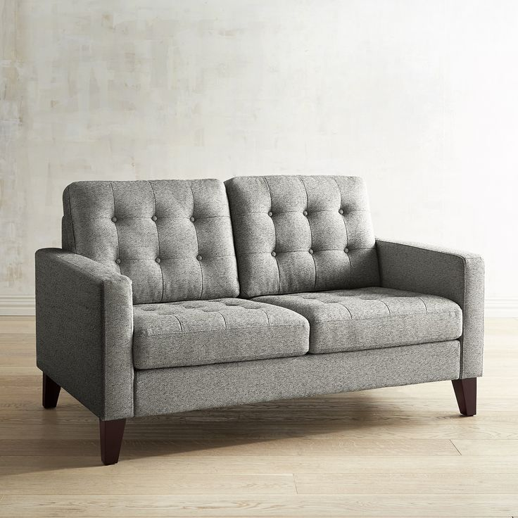 Nyle Slate Gray Loveseat Black