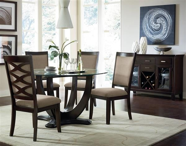 CyberMonday Deal Check Out Price Of This Beautiful Mulholland Boulevard Transitional Wood Glass Dining