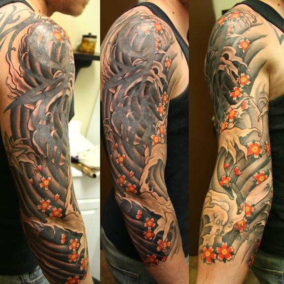 Neo Traditional Storm Cloud Tattoo