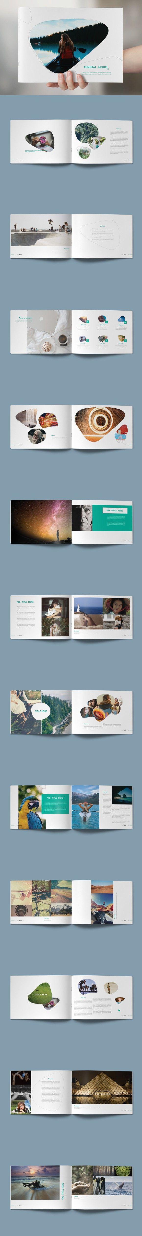 Minimal Photo Album. Brochure Templates. $15.00
