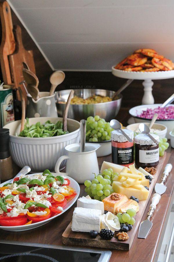 Dreierlei Liebelei: Partybuffet-Inspiration