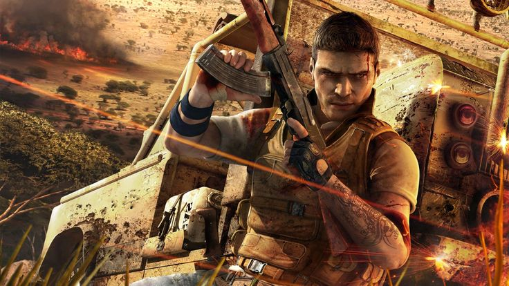 Impressive Far Cry Machine Gun Car Fire Tattoo Jack Carver Wallpaper « Kuff Games