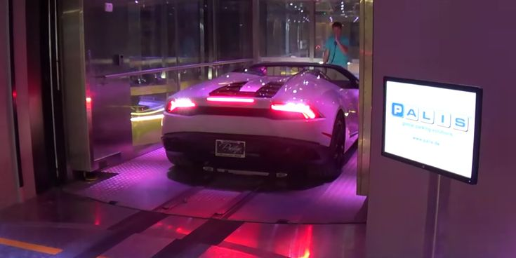 Here's how you park your car on the 56th floor of your building