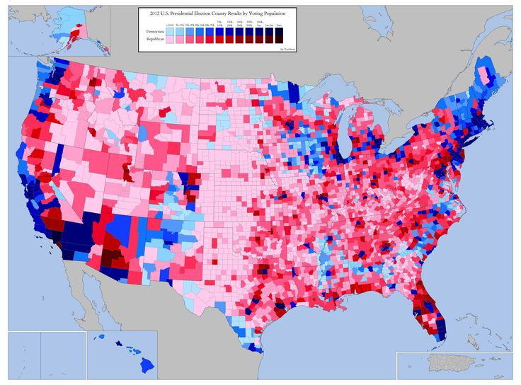 United States Presidential Election County Results By Voting - Us map of voting results by county