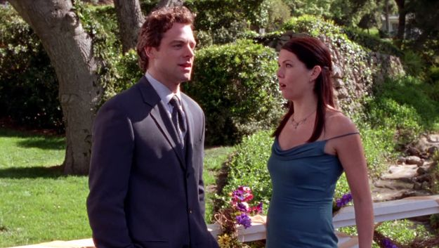 "When Christopher and Lorelai almost get together but he had to leave her because his girlfriend Sherry got pregnant. | 47 Moments Every ""Gilmore Girls"" Fan Will Never Get Over"
