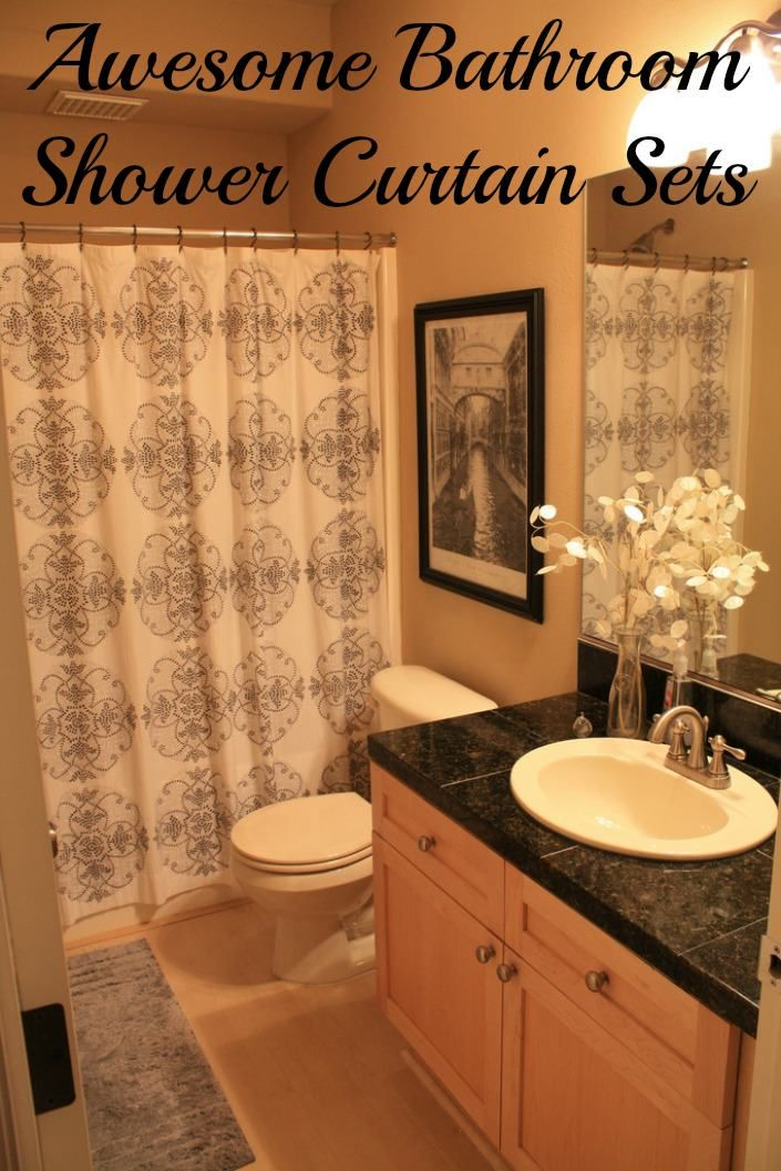 best 25 bathroom shower curtain sets ideas on pinterest boys shower curtain long shower. Black Bedroom Furniture Sets. Home Design Ideas