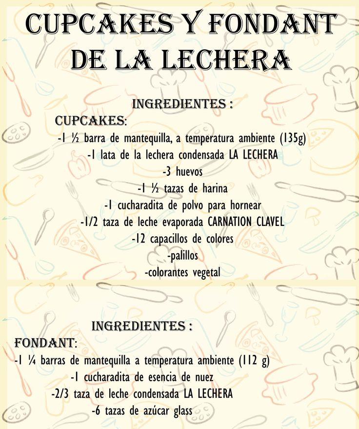 Cupcakes Fondant LA LECHERA