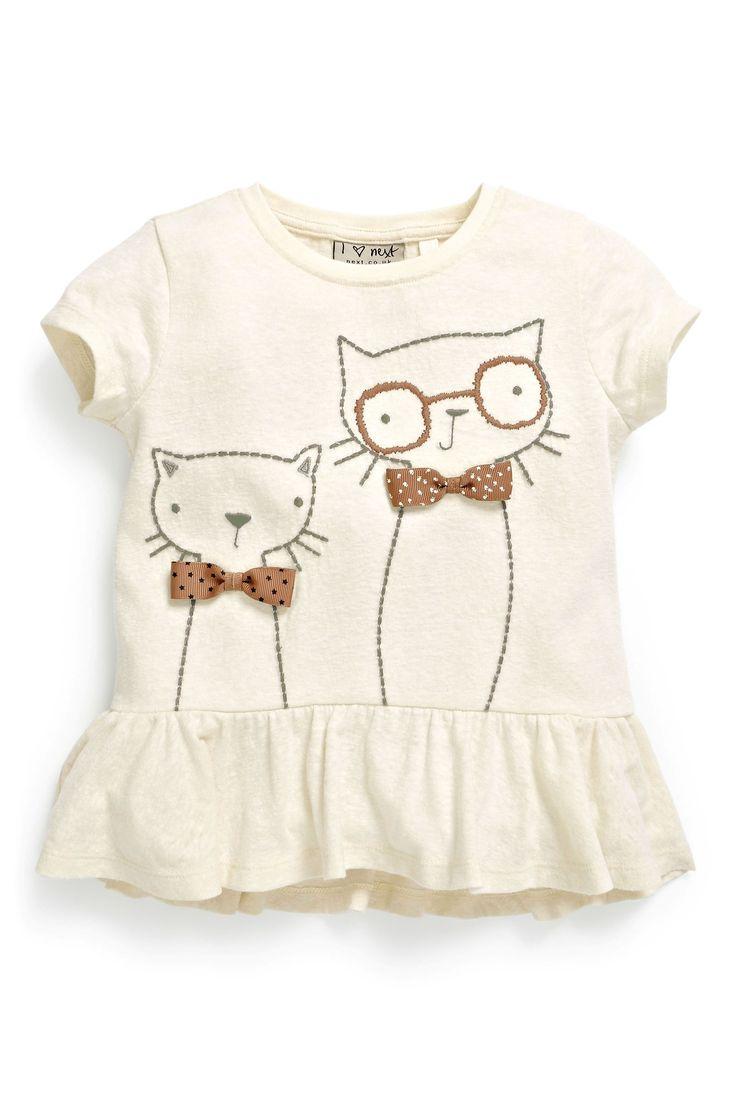 Buy Textured Cat Peplum Top (3mths-6yrs) from the Next UK online shop