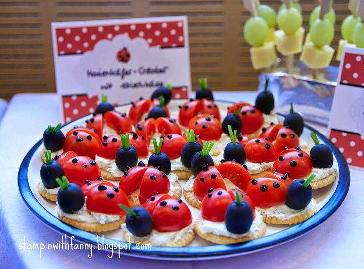 stampin with fanny: Marienkäfer-Geburtstag: Die Candybar stampin up marienkäfer party ladybug erster geburtstag first birthday glutrot weiß schwarz red black white torte cake candy bar