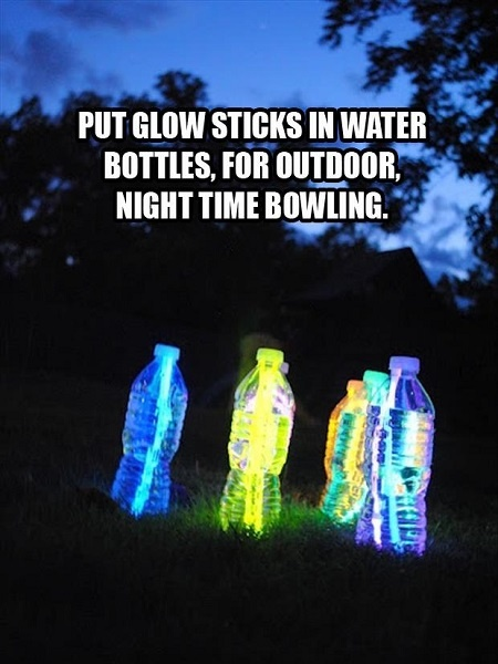 Glow in Dark Bowling #petbottle #upcycling #sports
