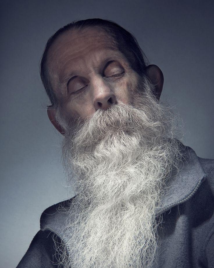 Wonderful portrait of white bearded man.