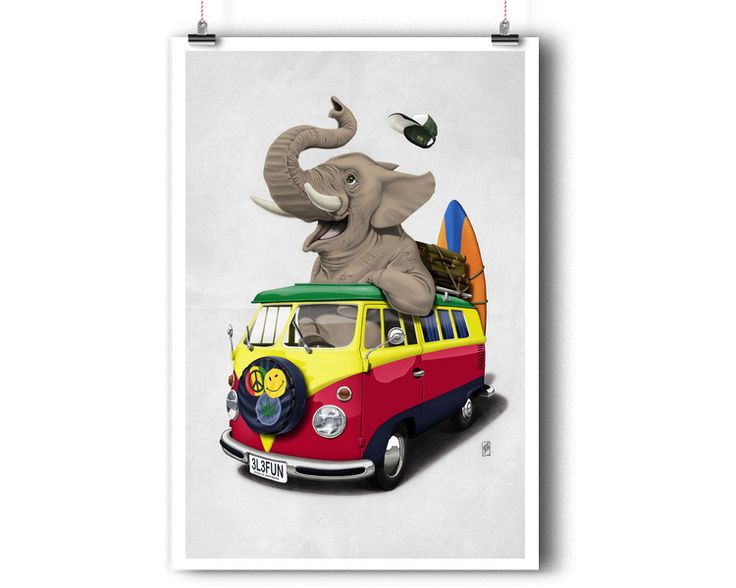 Pack the Trunk (Wordless) | Shop art | decor | wall art | inspiration | caricature | home decor | idea | humor | gifts
